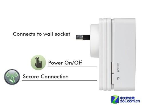 1000RP 无线信号放大器侧面-扩展无线信号 网件新品消除无线死角图片
