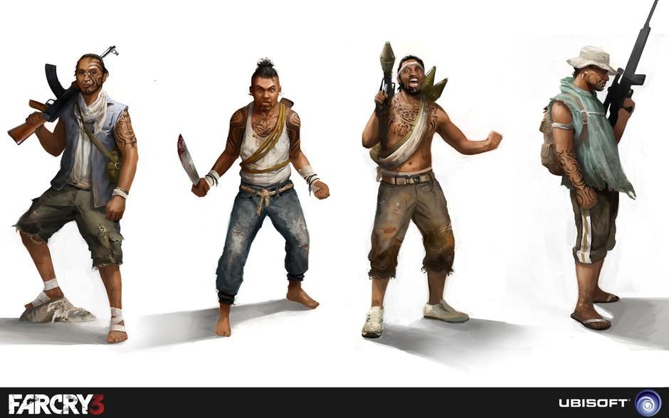 《孤岛惊魂3》角色设定图赏