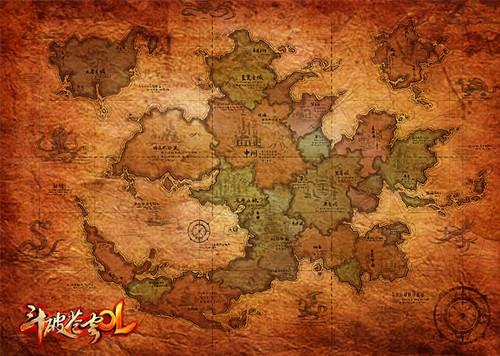 《斗破苍穹ol》斗气大陆地图首度公开