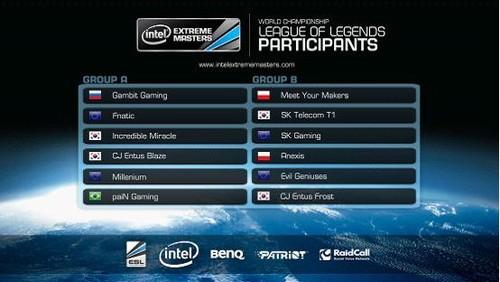 IEM 2013世界锦标赛星际2、LOL赛程公布