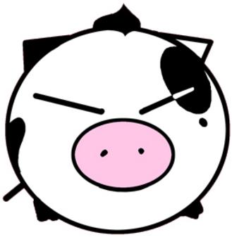 可爱猪猪黑白头像