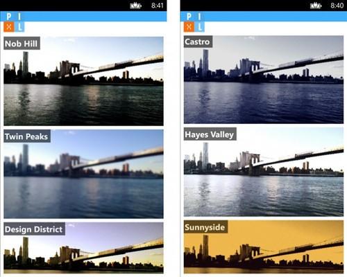 以城市区命名 WP版Pixl更新新增8款滤镜