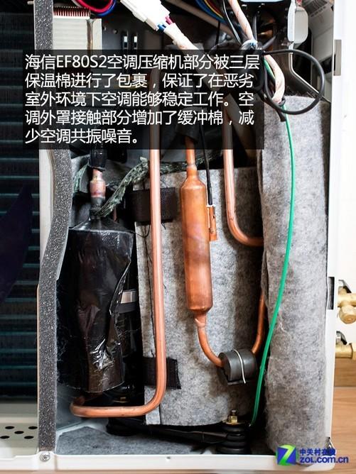 为了保证空调能够在恶劣环境下能够继续工作,空调压缩机被专用保温棉