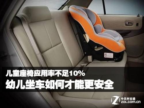 儿童座椅不足10% 幼儿坐车如何才安全