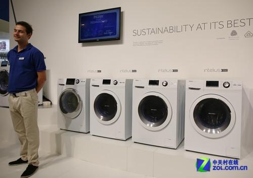 纯白简约之美 海尔发布新品滚筒洗衣机