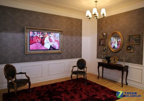 与墙壁合体 LG艺术画廊OLED电视美图赏