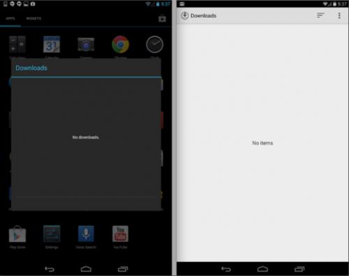 Nexus 7运行Android 4.4系统截图曝光