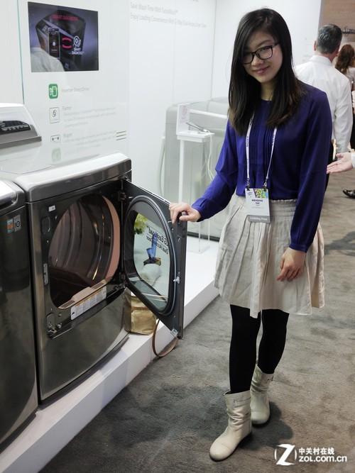 美女带你看ces lg大容积洗衣机现场体验