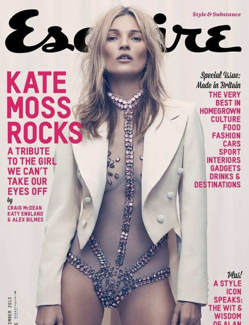 离Kate Moss为男性杂志做封面已经有17年了,这次她为英国版Esquire出镜,上演透视珠宝衣,让大家觉得,这么漫长的等待也值回票价啦!