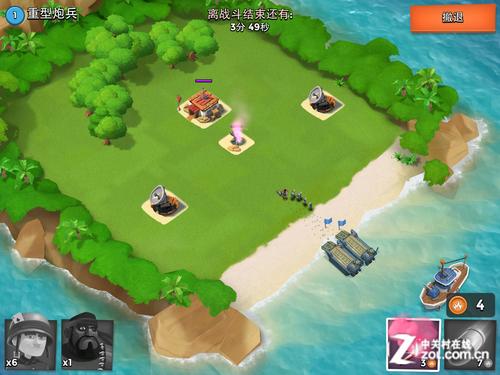 战斗设施进行有效的控制与调整;而在海岛奇兵,开发者加入了登岛攻击