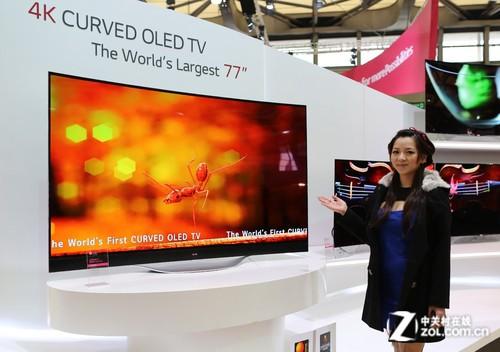 4K+曲面 LG 77吋大屏OLED电视中国上市
