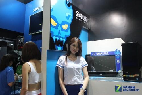 神机也要靓妹 看美妞助阵Intel至尊地带