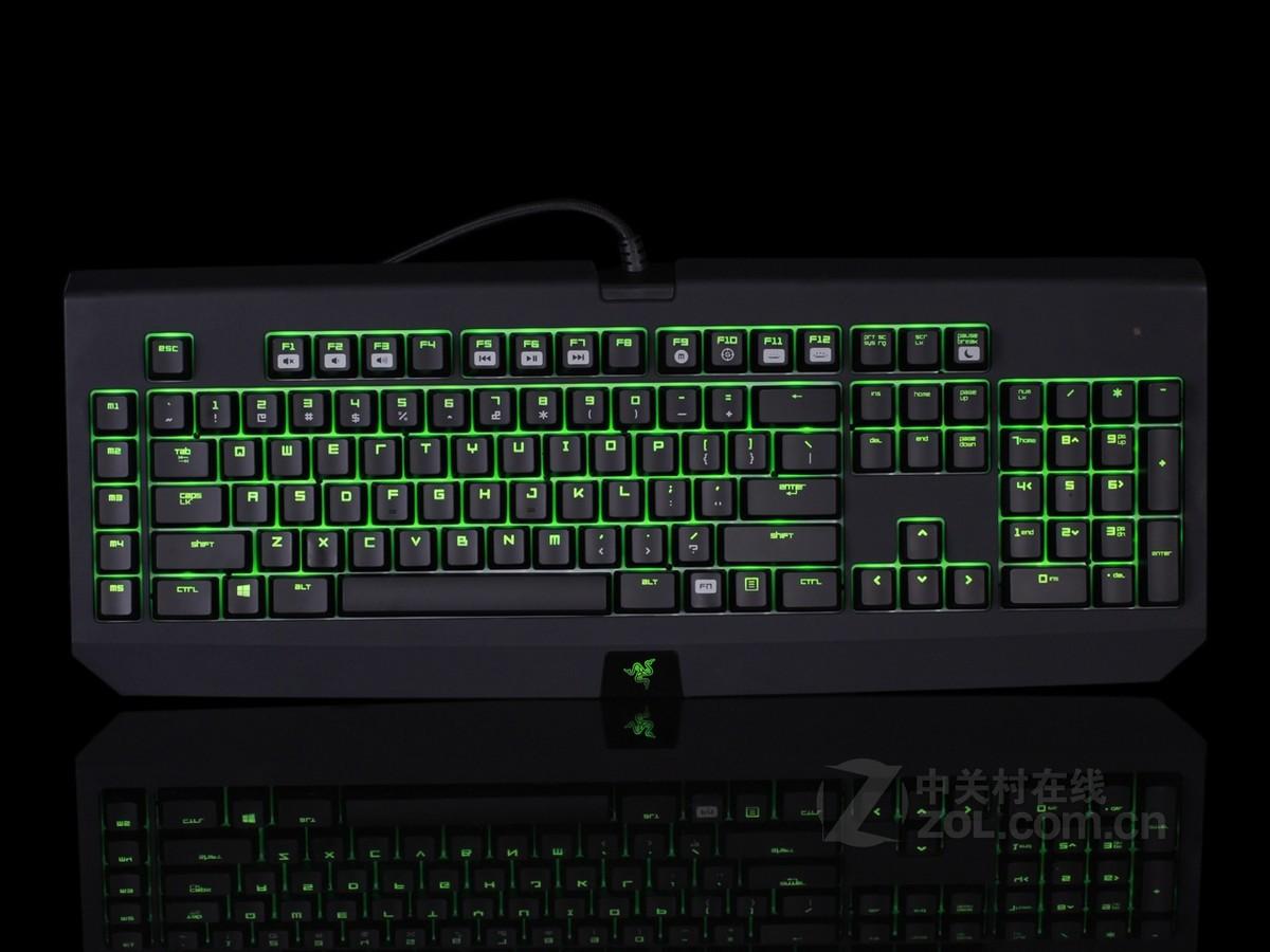 机械式游戏键盘_razer 黑寡妇蜘蛛幻彩版机械式背光游戏键盘