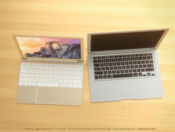 据传言制作12寸MacBook Air 3D渲染欣赏
