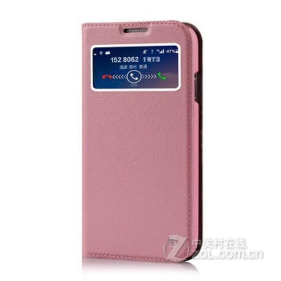 gguu 真皮手机套保护壳 适用于三星galaxy s4/i9500/i9508 前卫粉