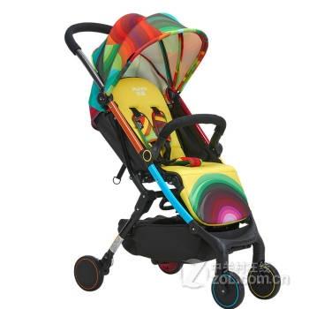 荟智婴儿推车轻便可折叠高景观婴儿童车宝宝推车 蓝色