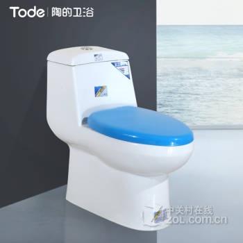陶的卫浴(tode)节水马桶虹吸式强冲力坐便器静音