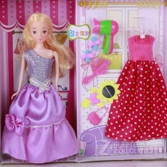 【智v女生喜欢芭比娃娃女生套装衣服公主屋女自己比十的岁礼盒小走路图片