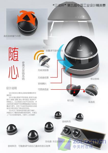 【高清图】三诺杯工业设计大赛获奖作品赏(组图) 图10 -ZOL中关村在线