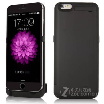 kqp 苹果背夹电池移动电源充电宝 适用于iphone6/6plus 磨砂黑4.