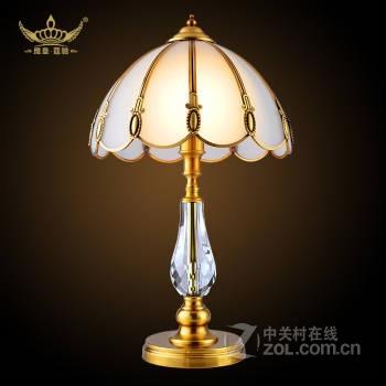 欧式全铜台灯 现代简约客厅书房卧室床头装饰铜
