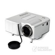 优丽可(UNIC)UC28家用LED投影仪 迷你便携微型投影仪可U盘电脑手机投影 白色 套餐二