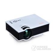 优丽可(UNIC)新款UC40家用LED微型投影仪连电脑U盘高清迷你便手机投影 白色+100吋简易幕布(送高清线) 套餐一