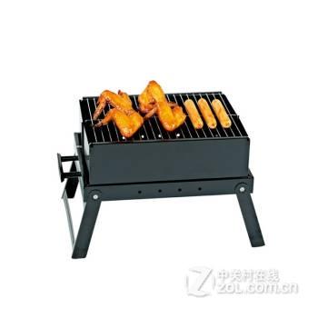 欧式手提箱式便携烧烤炉