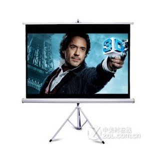快朵小屋  投影幕布支架幕布投影仪幕布 60英寸4比3高清白玻纤材质