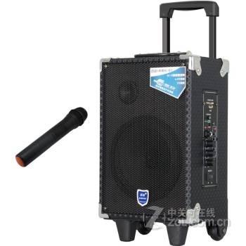 双诺声美 hj-810 户外拉杆音响 广场舞晨练k歌 大功率锂电拉杆音箱 8