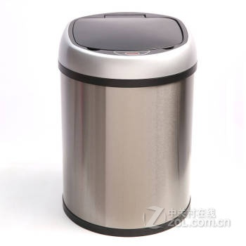 【欧本不锈钢智能感应垃圾桶