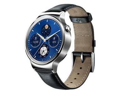 华为WATCH智能手表 运动心率检测蓝牙无线智能穿戴电话手表 经典系列黑色尖尾*表带
