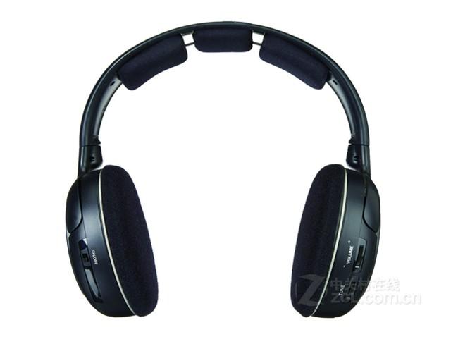 森海塞尔rs120耳机采用无线方式连接,产品重量:230g.