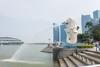 新加坡的地标象征鱼尾狮像