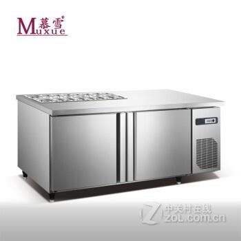 5米冷藏沙拉台式冰柜 1.8米披萨操作台冷柜 冰箱 1.8米带份数盘孔图片