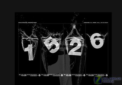 【高清图】 国外网站放出黑白绝美屏保:数字水滴图2
