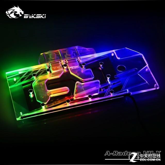 深圳IT网报道:Bykski推出Radeon VII全覆盖RGB水冷模块