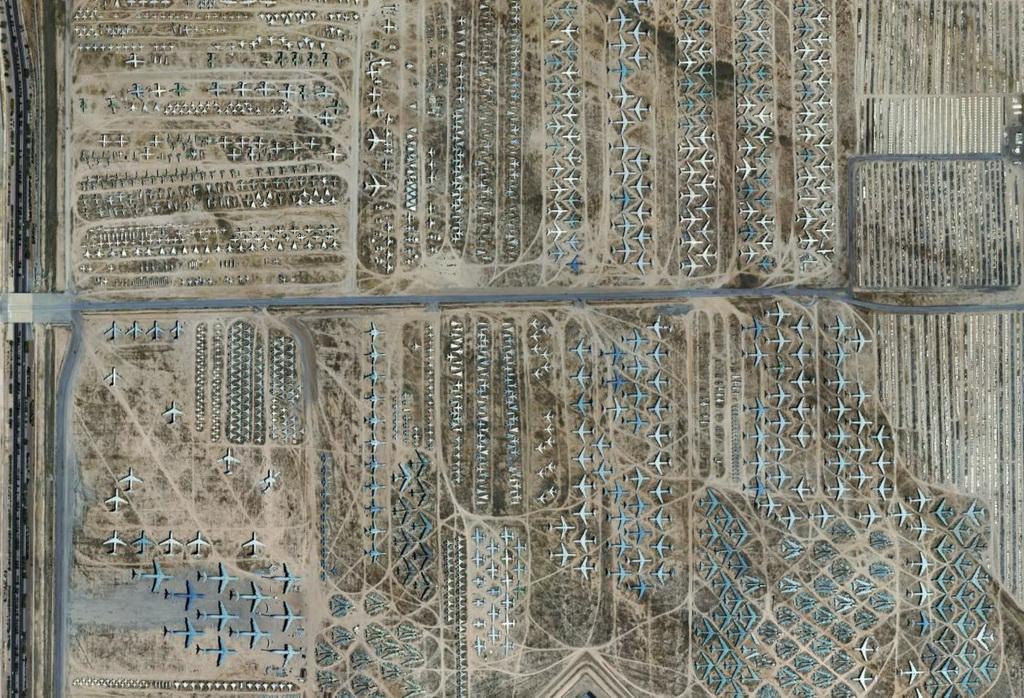 美国壮观飞机坟场图片欣赏