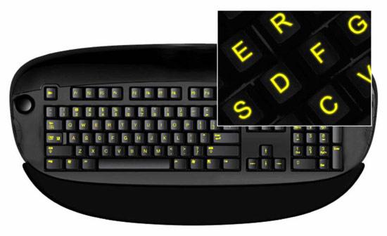 【高清图】荧光特效 贴纸打造个性炫酷背光键盘 图1