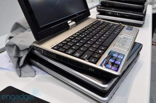 技嘉可旋屏上网本T1000发布 组图欣赏