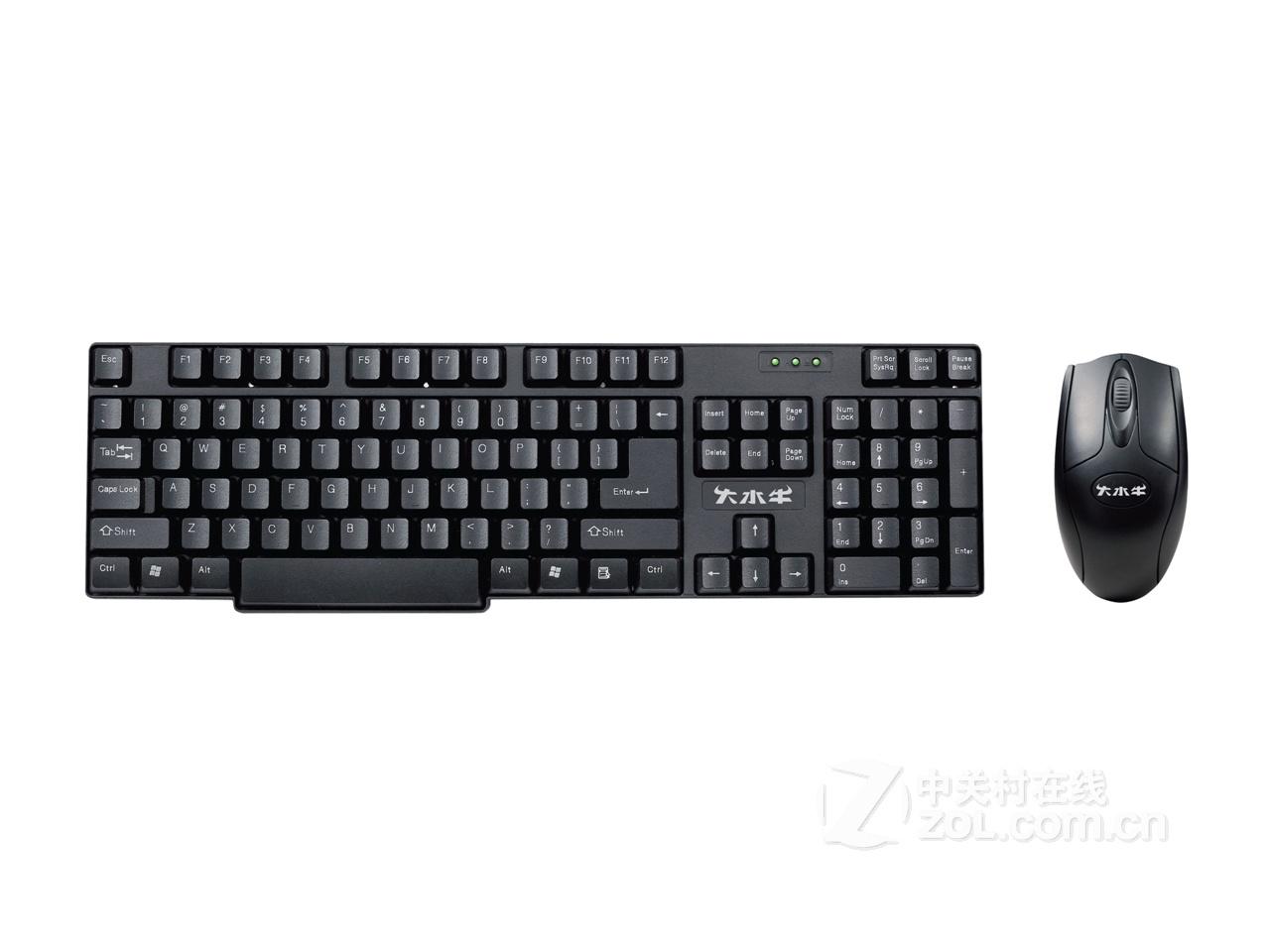 大水牛5200键鼠套装; 大水牛5200键鼠套装 防水键盘usb鼠标 大水牛键