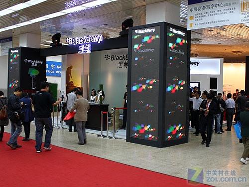 蓝牙键盘+黑莓四大系列产品亮相通讯展