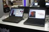 联想展出的ThinkPad SL和E系列的笔记本电脑。
