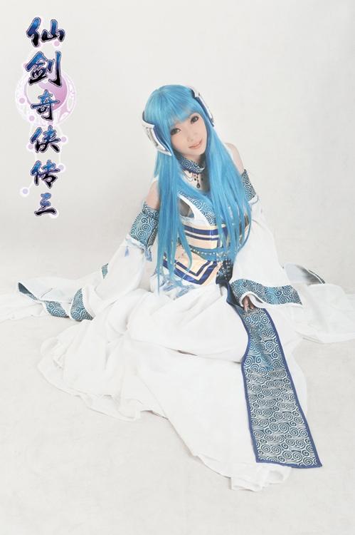【高清图】 《仙剑奇侠传3》蓝色龙葵公主唯美cos图1