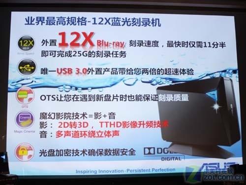华硕发布首款USB3.0蓝光外置光驱