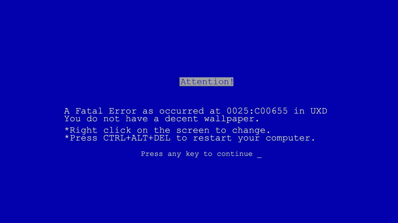办公室整蛊之win7蓝屏桌面壁纸高清大图(1280x720)-win7电脑蓝屏 图片