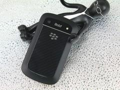 黑莓 9900 黑色 背面图