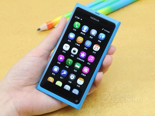 诺基亚 N9 蓝色 正面图