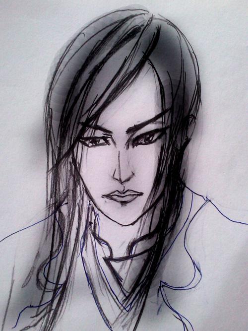 """网游快报 > """"野兽派""""玩家手绘素描头像"""