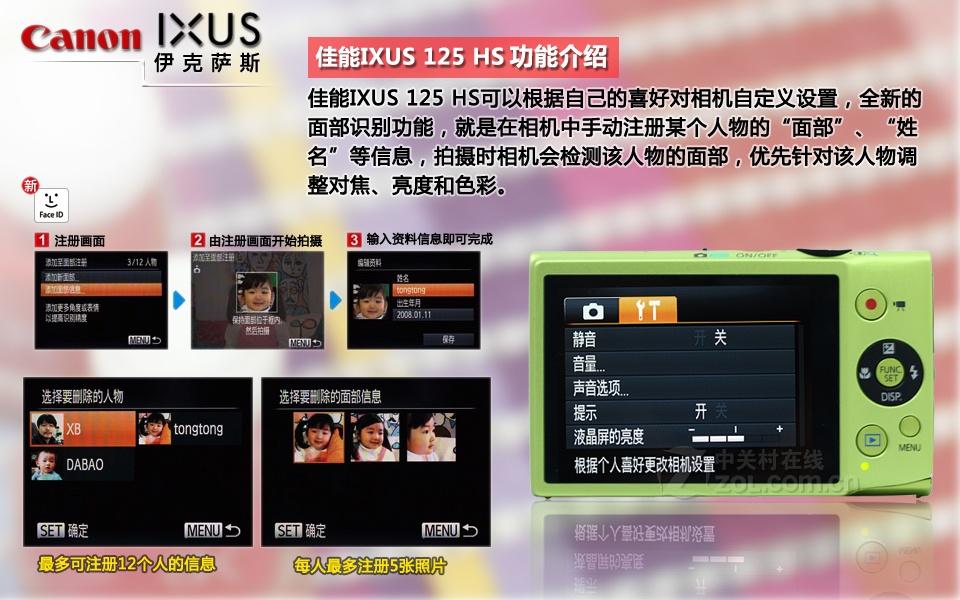 佳能IXUS 125 HS